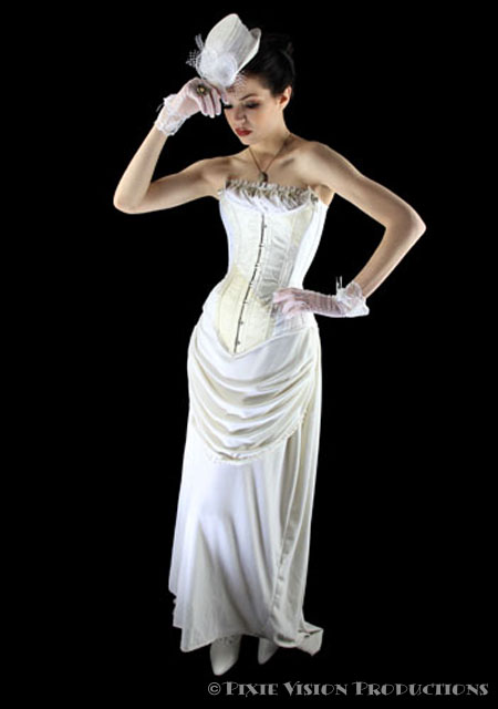 Wedding dressses white wedding steampunk fashion for Where can i get my wedding dress steamed