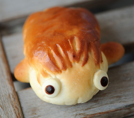 Ponyo buns uproaring the seas one hungry customer at a for Fish shaped bread