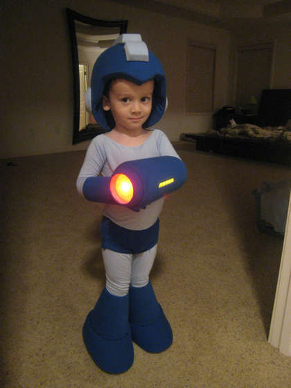instructables little kid mega man halloween costume a constant search for partners in crime. Black Bedroom Furniture Sets. Home Design Ideas